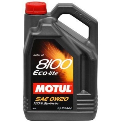 Picture of 0w20 - MOTUL Motor Oil - 8100 Series   Size: 5L Jug (1.3 gal)