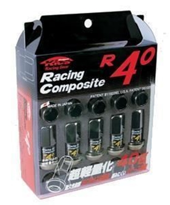 Picture of Project Kics R40 M12x1.25 Black Chrome Lug Nuts
