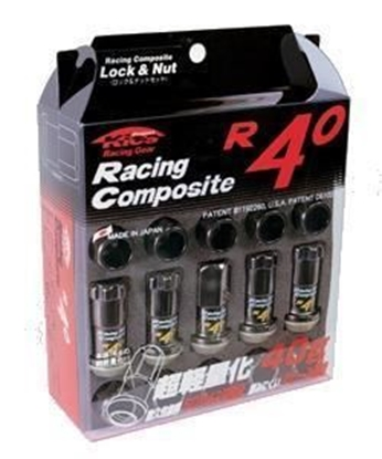 Picture of Project Kics R40 M12x1.25 Black Chrome Lug Nuts w/Locks