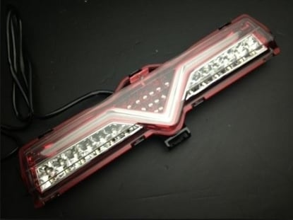 Picture of Valenti Style Reverse Bar Clear/Red White Bar - CR2