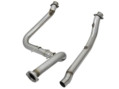 Picture of aFe Twisted Steel Down-Pipes (Race Series) Raptor 17+ -48-43020-HN